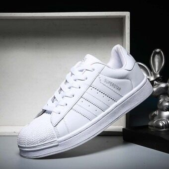 Harga 2017 Classic Inspired addidas Superstar Sneakers Canvas Shoes White