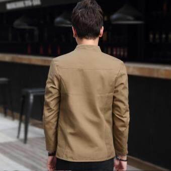 Fitur 2017 New Design Mens Fashion Jacket Coat Youth Male Slim
