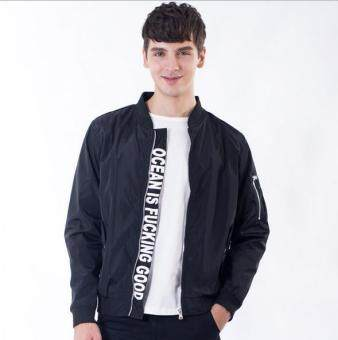 2017 New Men's Bomber Jacket Coat Letter Emboridary Mens Hip PopJacket Pilot Bomber Jackets Men Windbreaker Jacket