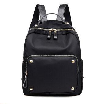 2017 nylon shoulder bag female korean version of the new ms. mummybackpack oxford canvas bag wild tide bag (Black)
