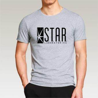 2017 superman o-neck brand t shirt men STAR Laboratories FashionSummer O-neck cotton hip hop male T-Shirt mma top clothing diyt-shirt for men Grey