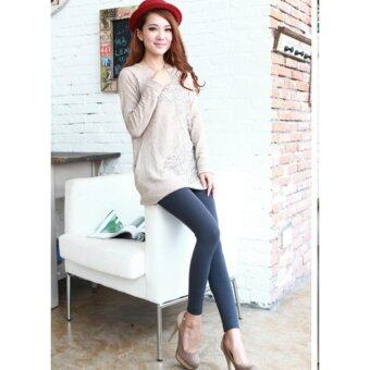 Harga 2017 Women/ Men Winter Leggings /-15 degree keep warm/ inner wear/Women pants-Grey