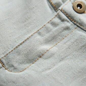 2Pcs Denim Suspender Pants + T-shirt Red - 5
