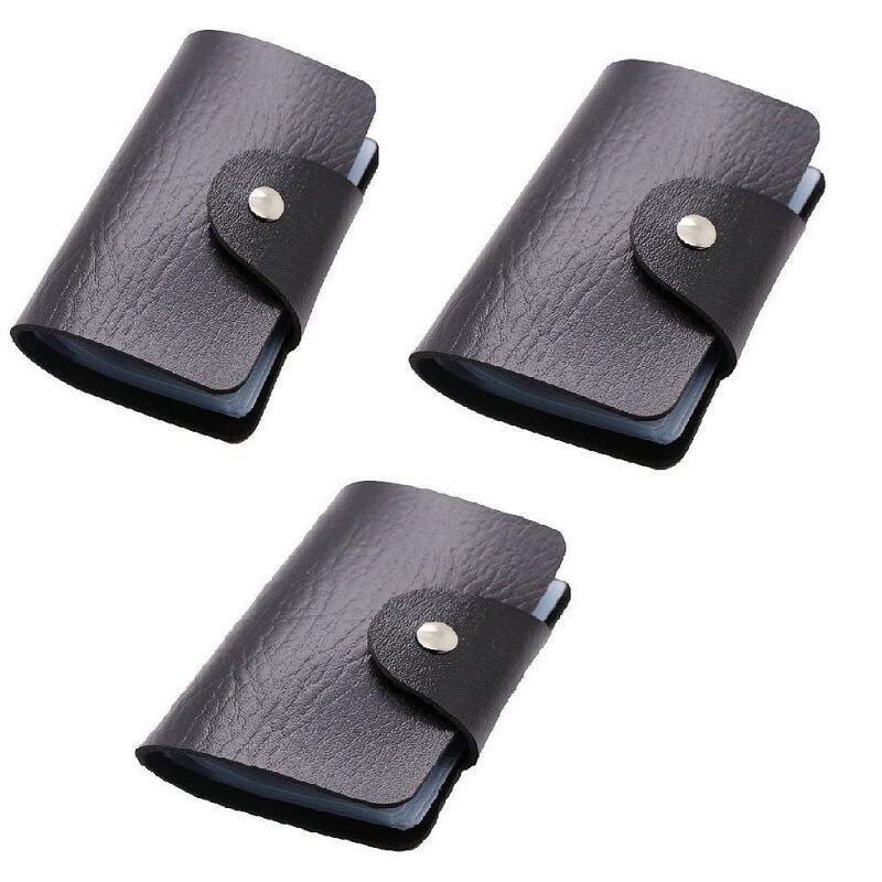 3 Units Slim PU Leather 24 Slots Card Holder Wallet Bag Malaysia