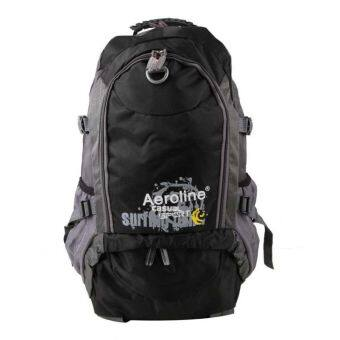 35L Aeroline Ultra Light-Weight Outdoor Backpack for Hiking & Camping Black