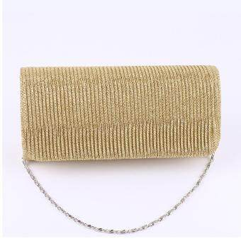 360DSC Hennes Drape Handbag New Dinner Handbag Tide One Shoulder Evening Bags Lady Bag - Gold