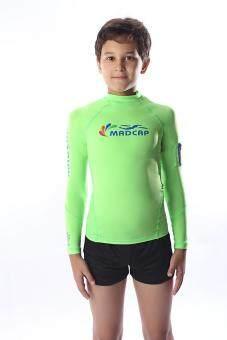6-16Y Boys' UV Sun Protection Long-Sleeve Swimwear Swimsuit Rash Guard