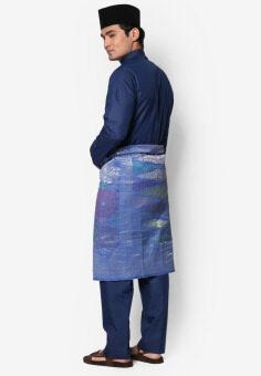 Amar Amran Baju Melayu Moden (Navy Blue) - 3