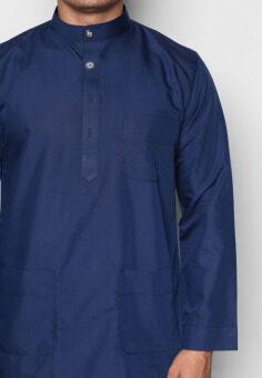 Amar Amran Baju Melayu Moden (Navy Blue) - 5