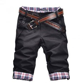 Harga Amart Korean Style Men's Cropped Jean Pants For Leisure TrousersMen Pant