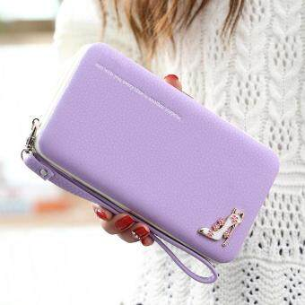 Harga Amart Lovely Lady Wallets Long Wallets Purses Clutch Bags PhoneCase For iPhone 6 Plus Lady Cute Coin Purse (Purple)
