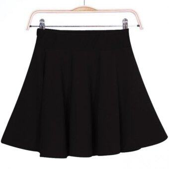 Harga Amart New Sexy Mini Short Skirt Stretch High Waist Pleated Skirt