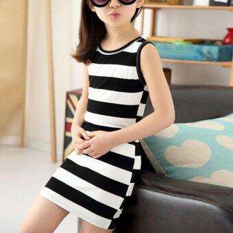 Harga Amart Summer Girls Vest Children Clothing Cotton Striped Kids DressCasual Child Princess Sundress