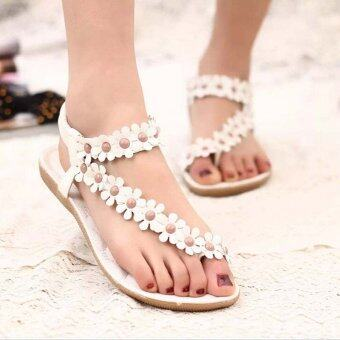 Amart Summer Lady's Sandals Fashion Bohemia Casual Thong FlatsShoes