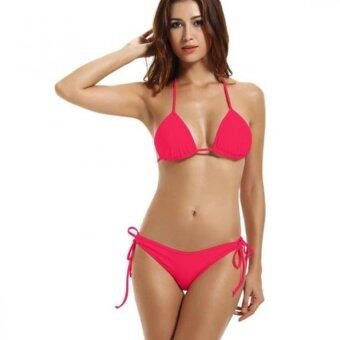Harga Amart Women Sexy Bikini Swimwear Halter Neck Bikinis Hot two-piecesSwimsuits