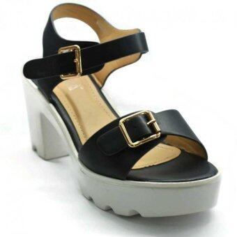 Amber Walk Lady Heel Pump Ankle Strap Buckle- 6225 (Blue) - 2