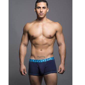 "ANDREW CHRISTIAN ""ALMOST NAKED\"" COTTON BOXER (NAVY)"