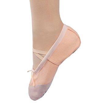 Andux Dancing Shoes for kids Ballet Shoes for girls Canvas SoftClassic Yoga Shoe ETRDWX-01 Beige