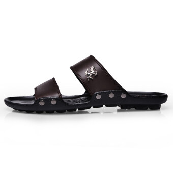 AODLEE Fashion Men Sandals Casual Shoes Breathable Slippers Brown - 2