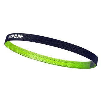 AONIJIE Men and Women Sports Running Hair Bands Anti-slip ElasticRubber Sweat Headband (Green)