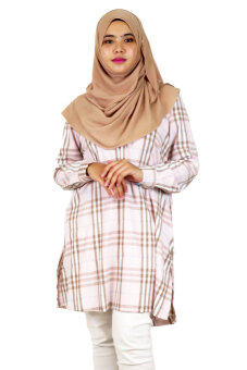 Aqeela Muslimah Wear Career Plaid Pink