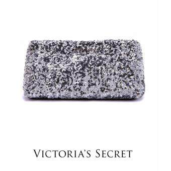 Harga AUTHENTIC VICTORIAS SECRET SEQUIN CLUTCH (SILVER)