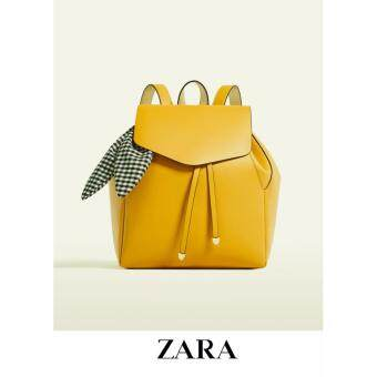 Harga AUTHENTIC ZARA FLAP BACKPACK WITH SCARF (YELLOW)