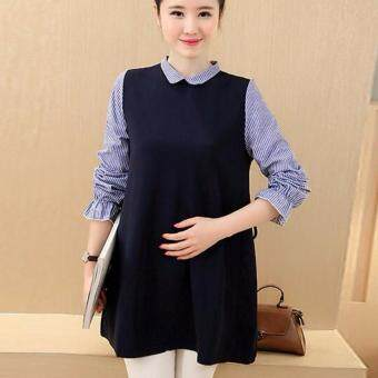 Autumn Fashion Maternity Dress Pregnant Skirts Wear Long Sleeve Zipper - 4
