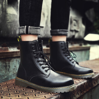 Harga Autumn hight-top boots Dr. Martens (Black)