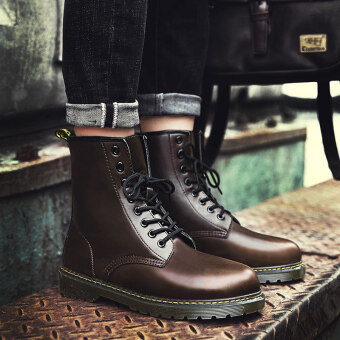 Harga Autumn hight-top boots Dr. Martens (Coffee)