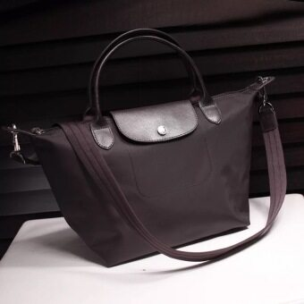 (Big Size) Paris Longchmp Le Pliage Neo Nylon Tote/Sling Handbag(Dark Coffee)