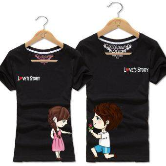 Black Couple T-Shirt (Price for One T-Shirt)