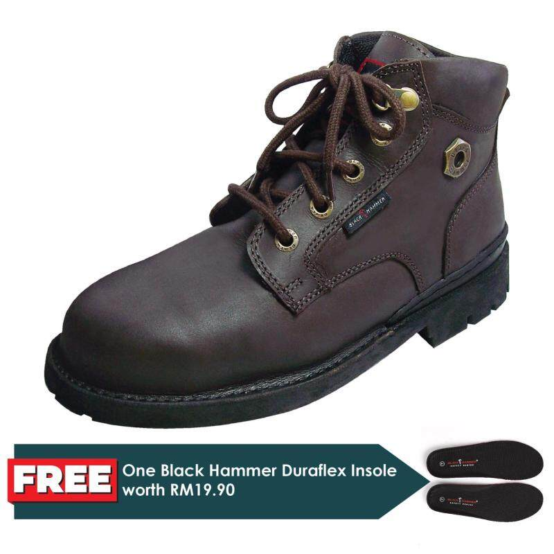 Buy Black Hammer 4000 Series Mid cut Lace up Safety Shoes Malaysia