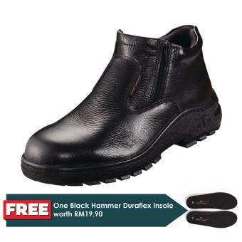 Harga Black Hammer Classic Series Mid Cut Zip on Safety Shoes