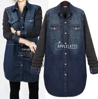 Harga Blue Denim European Shirt