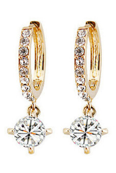 Harga Bluelans Austrian Zircon Rhinestone Stud Drop Earrings Gold