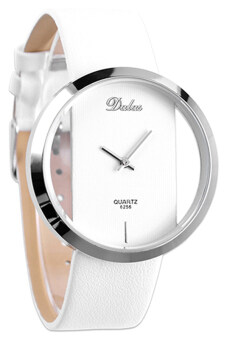 Harga Bluelans(R) Leather Strap Watch (White)