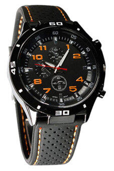 Harga Bluelans(R) Men's Orange Silicone Sport Wrist Watch