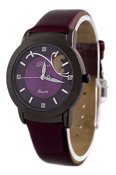 Harga Bluelans(R) Women's Purple Leather Strap Watch