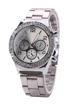 Harga Bluelans(R) Women's Silver Alloy Band Watch