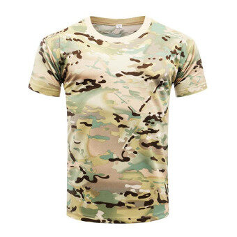 Brand New Summer Military Camouflage Men T-shirt Casual TacticalArmy Combat O Neck T Shirt Men Quick Dry Short Sleeve Camo Clothing - 4