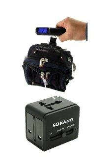 Harga Bundle Deal- Sokano Travel Adaptor and Portable Digital Luggage