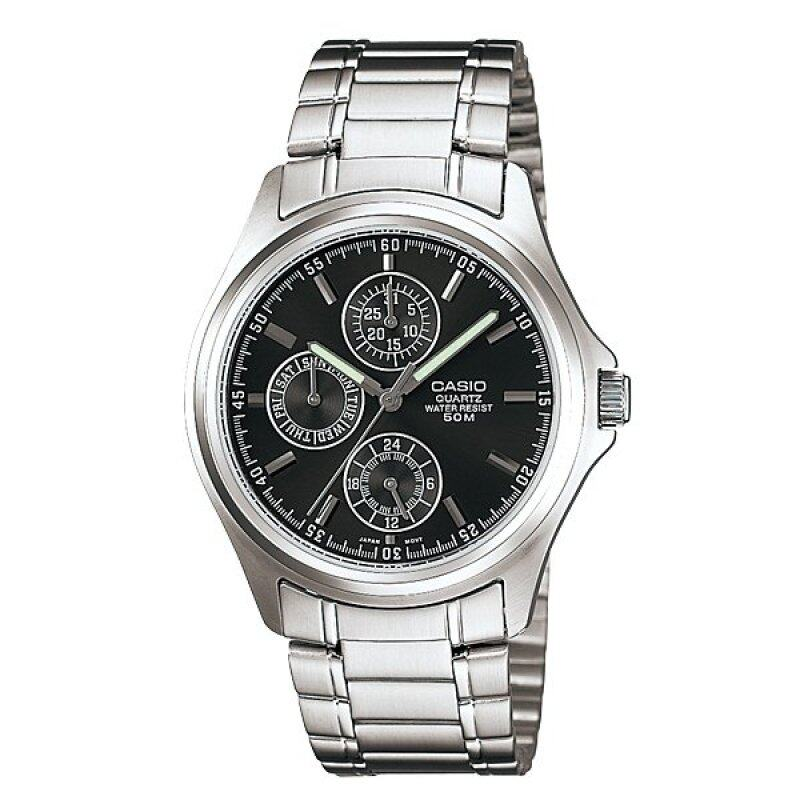 Casio ENTICER Men Analog Stainless Steel Band Watch - MTP-1246D-1AV Malaysia