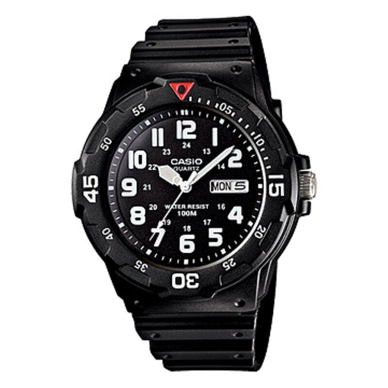 Casio ENTICER MRW-200H-1BV Rotating Bezel Resin Band Mens Watch Black & White Malaysia
