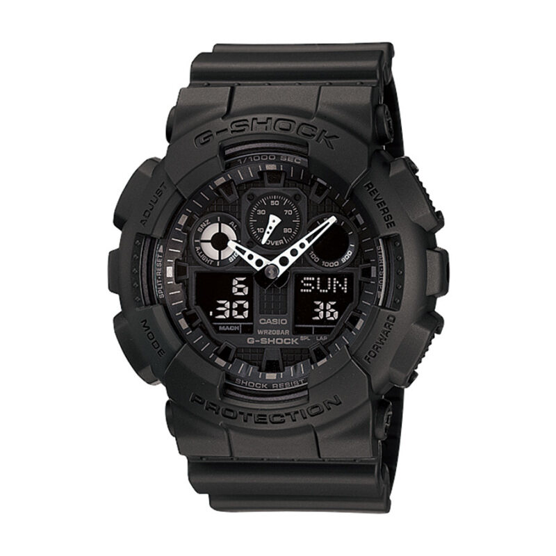 Casio G-Shock Mens Black Resin Strap Watch GA-100-1A1 Malaysia