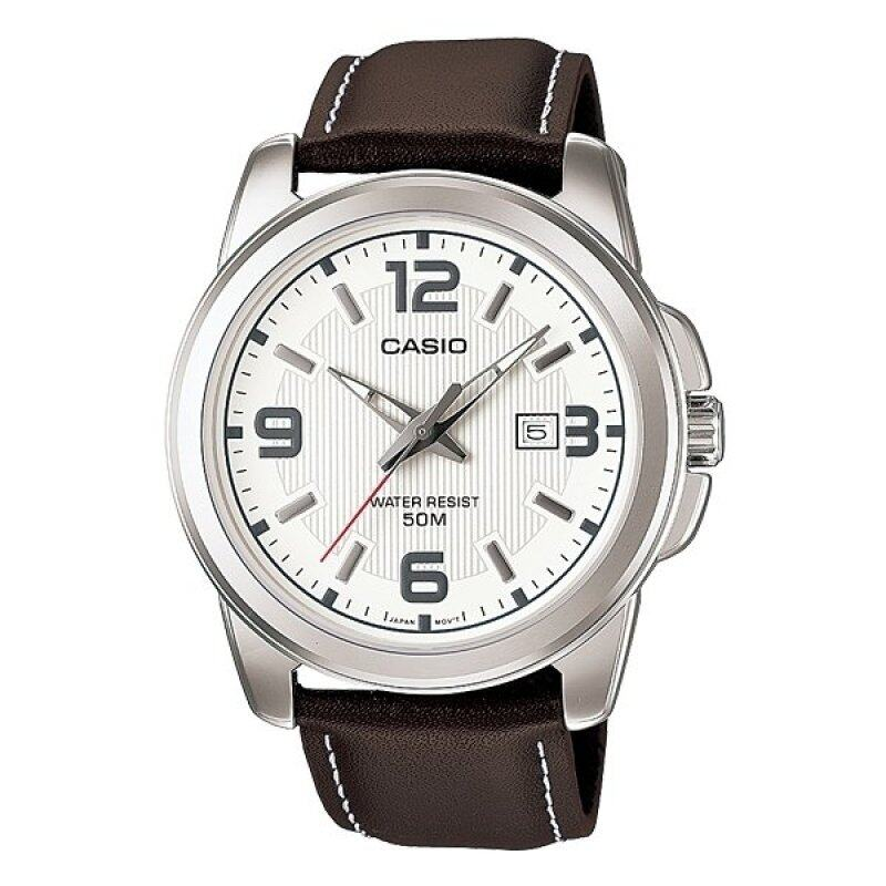 Casio MTP-1314L-7AV Mens Analog Watch Brown Leather Strap Malaysia