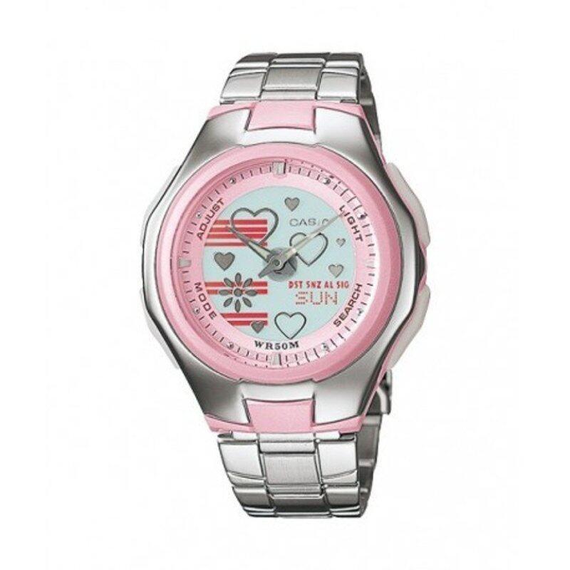 Casio POPTONE LCF-10D-4AV Stainless Steel Band Womens Watch Pink Malaysia