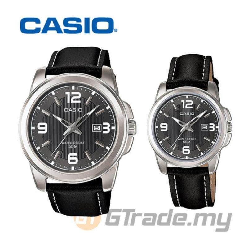 Casio Standard Unisex Black Leather Strap Couple Watch MTP-1314L-8AV and LTP-1314L-8AV Malaysia