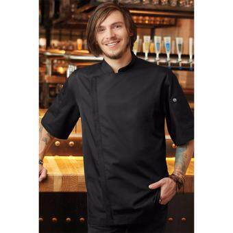 CHEF WORKS MEN SPRINGFIELD CHEF COAT : BLACK
