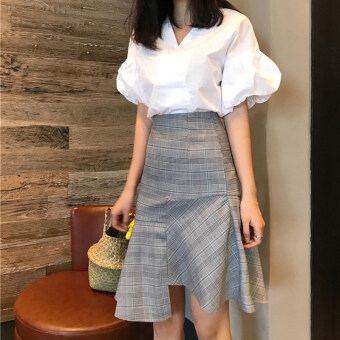 Chic retro style irregular Skirt